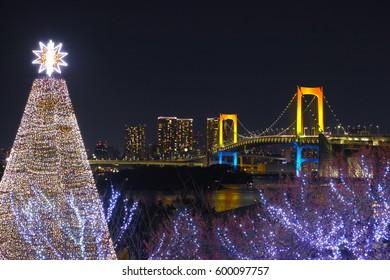 Christmas tree and Rainbow Bridge