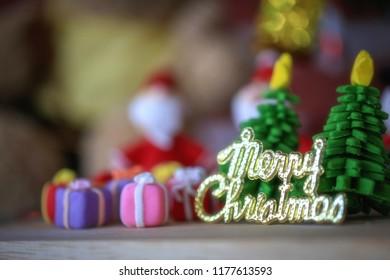 Christmas tree Santa's gift box Small gift box On Christmas Day, blurry images