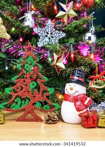 Christmas Tree Snowman Ceramic Doll Gift Stock Photo Edit Now