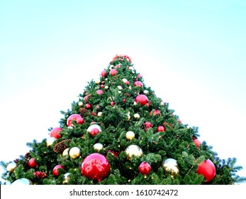 christmas tree top tall vertical holiday ornaments