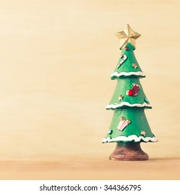 Christmas tree vintage background