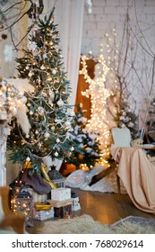 Christmas tree with vintage decorations