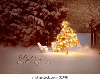 Christmas tree wishing