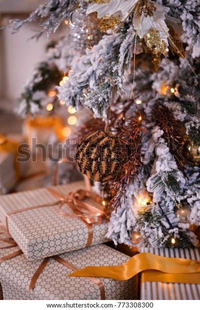 Christmas Tree Xmas Decorations Ideas Stock Photo Edit Now