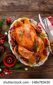Weihnachtskuhn. Traditionelle Festessen zu Weihnachten oder Thanksgiving