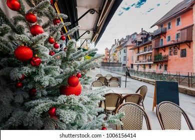 Christmas view in Annecy, France