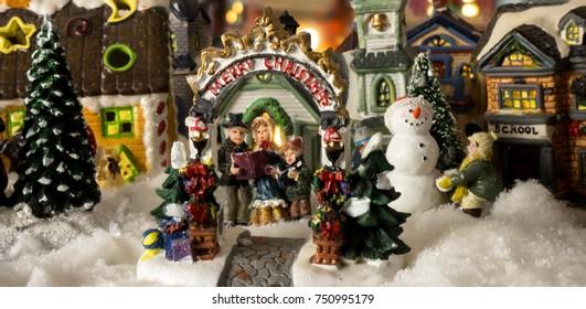 Christmas village (close up)