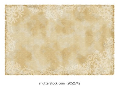 christmas vintage paper with snowflakes