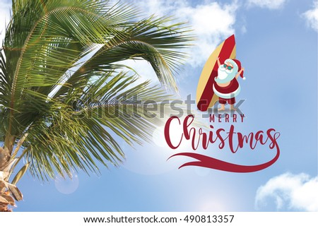 Christmas Warm Climate Palm Tree Cartoon Stock Photo Edit Now