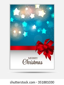 Christmas Website Banner and Card Background Illustration