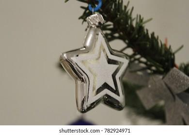 Christmas white bauble, Christmas tree,