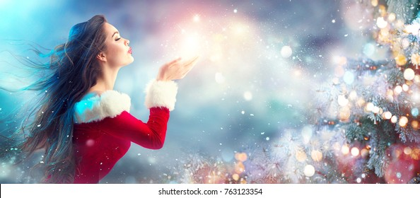 Christmas Beauty.Christmas Makeup Images Stock Photos Vectors Shutterstock