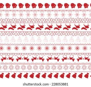 christmas and winter seamless pattern