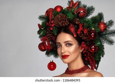Christmas Hair.Imagenes Fotos De Stock Y Vectores Sobre Christmas Hair