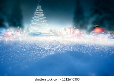 Christmas wintery background