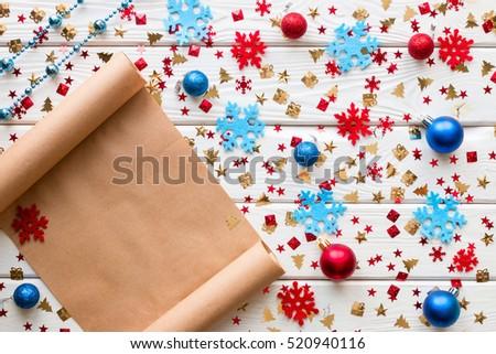 Christmas Wish List On Background Christmas Stock Photo Edit Now