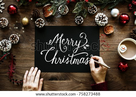 Christmas Wishing Card Stock Photo (Edit Now) 758273488 - Shutterstock
