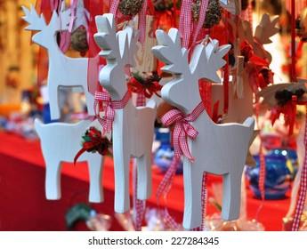 Christmas Wooden deer decorations