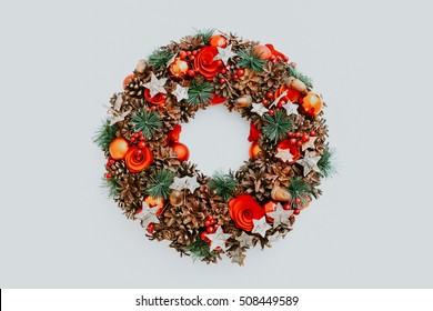 Christmas wreath for advent candles