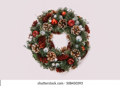Christmas wreath for candles
