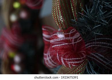 Christmas wreath candycane ribbon festive