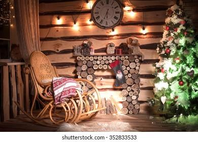 Christmas wreath at the door
