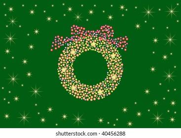 christmas wreath illumination