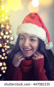 Christmas young woman