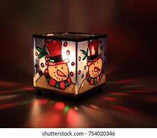 Christmash candle decoration