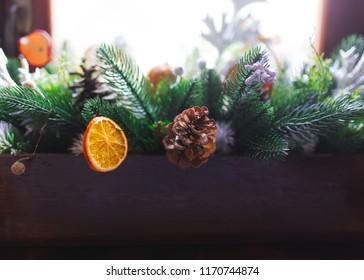 Christmass interior decoration.