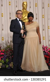Christoph Waltz & Octavia Spencer at the 85th Academy Awards at the Dolby Theatre, Los Angeles. February 24, 2013  Los Angeles, CA Picture: Paul Smith