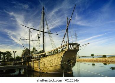"Christopher Columbus Ships - La Pinta (""the painted one"", ""the spotted one"")."