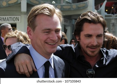 Christopher Nolan, Christian Bale at the Christopher Nolan Hand and Footprint Ceremony, Chinese Theater, Hollywood, CA 07-07-12