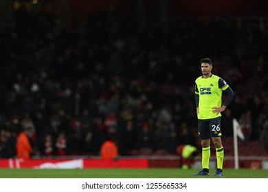 Christopher Schindler of Huddersfield Town after the defeat to Arsenal - Arsenal v Huddersfield Town, Premier League, Emirates Stadium, London (Holloway) - 8th December 2018