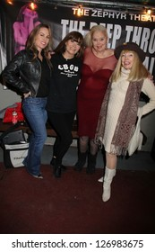 """Christy Oldham, Veronica Hart, Sally Kirkland, Terry Moore at the Opening Night of """"The Deep Throat Sex Scandal,"""" Zephyr Theater, Los Angeles, CA 01-31-13"""