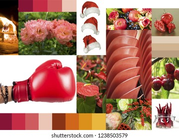chromatic inspiration on shades of red