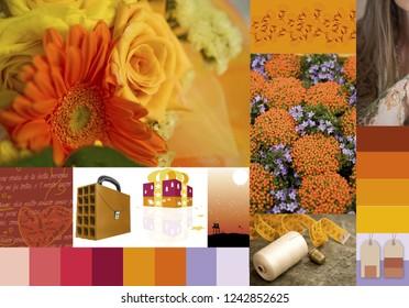 chromatic inspirations on warm tones