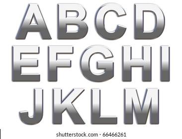 Chrome Capitals on white A-M