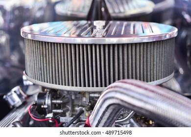 Chrome Engine Carburetor Grill