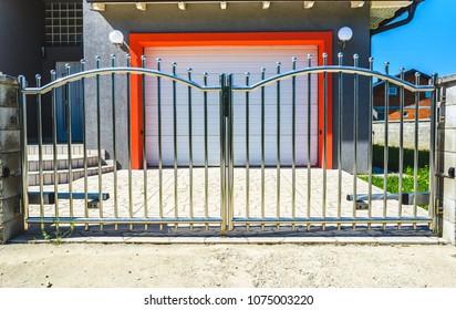 Steel Fence Design Images Stock Photos Vectors Shutterstock