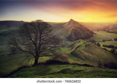 Chrome hill at sunrise, Peak District