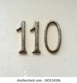 Chrome house number one hundred and ten.