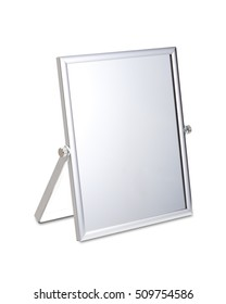Chrome Makeup Mirror on White