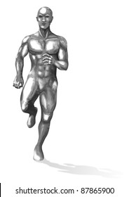 A Chrome man in running pose