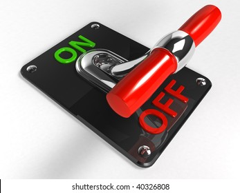 Chrome Toggle switch (OFF)