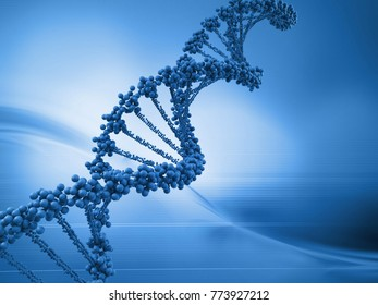 Chromosomes and genetic material with a beautiful color to make a background.