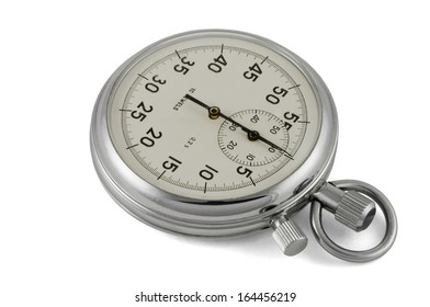 Chronometer mechanic isolated with clipping path