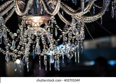 Chrystal chandelier close-up shot