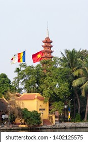 Chua Tran Quoc, the Tran Quoc Pagoda, a popular Buddhist pagoda at Tay Ho, the West Lake, in Hanoi, Vietnam.