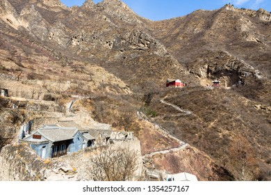 Chuandixia, Ming Dynasty village near Beijing, Hebei province, China - road to Guandi temple